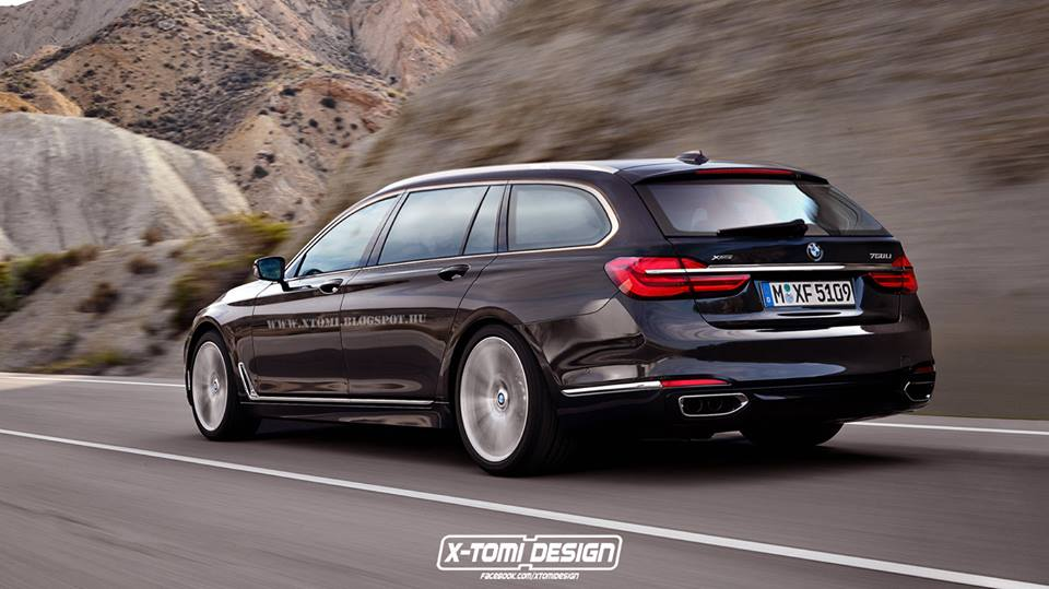 2016 bmw 7 series rendered as a touring previews the x7 autoevolution. Black Bedroom Furniture Sets. Home Design Ideas