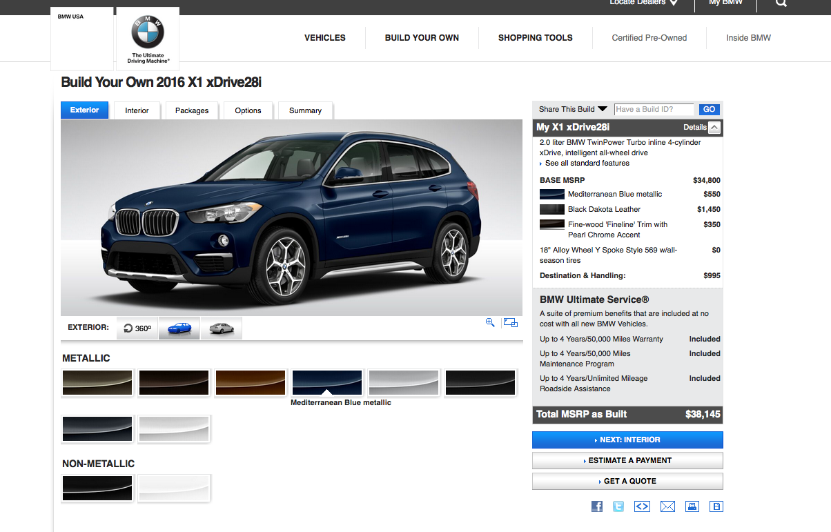 2016 Bmw X1 Configurator Goes Online Prices Start At