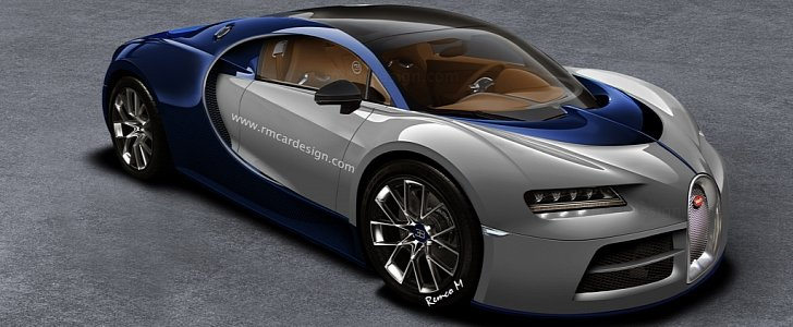 2016 bugatti chiron rendered based on the bugatti vision. Black Bedroom Furniture Sets. Home Design Ideas