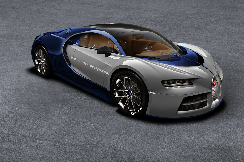 2016 bugatti chiron rendered based on the bugatti vision gran turismo looks. Black Bedroom Furniture Sets. Home Design Ideas