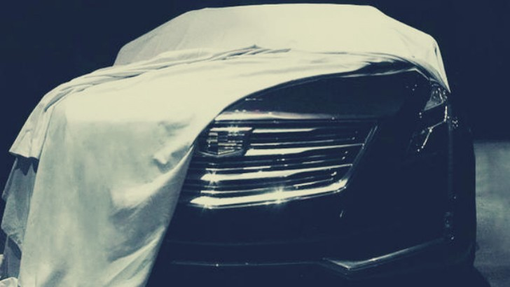 2016 Cadillac Ct6 Front Fascia Teased Prior To New York Auto Show Unveiling Autoevolution
