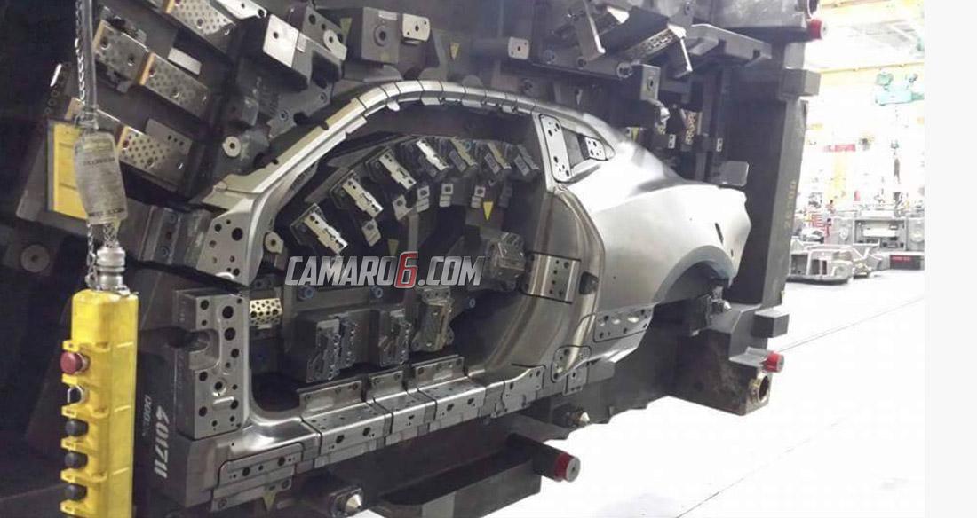 2016 Chevrolet Camaro Body Die Reveals The Side Profile Look Of