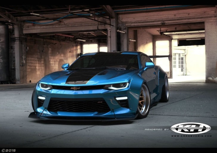 2016 Dodge Barracuda >> 2016 Chevrolet Camaro Gets Extreme Liberty Walk Kit as Rendering - autoevolution