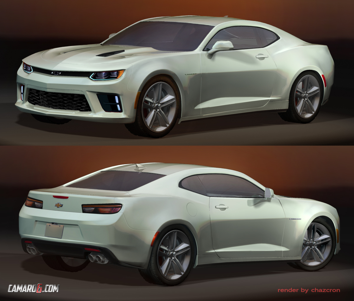 2016 chevrolet camaro previewed by the best rendering yet autoevolution. Black Bedroom Furniture Sets. Home Design Ideas
