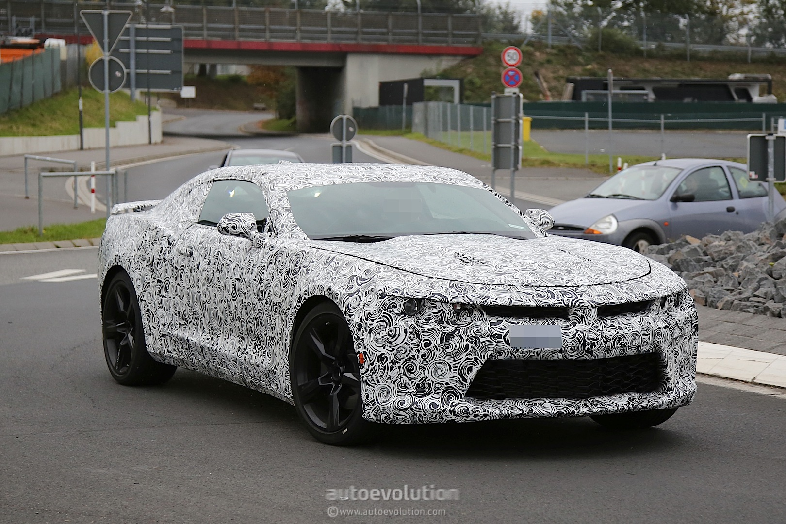 2016 Chevrolet Camaro Spied Near The Nurburgring Looks