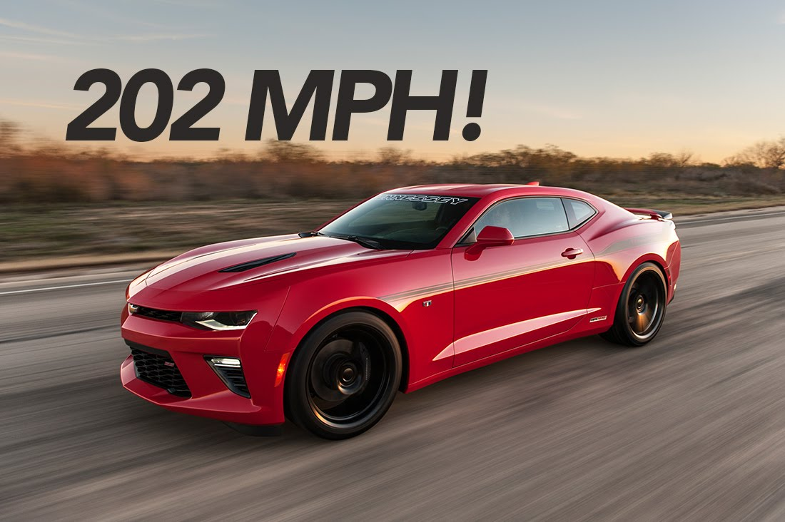 2016 chevy camaro ss tuned by hennessey reaches 202 mph autoevolution. Black Bedroom Furniture Sets. Home Design Ideas