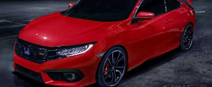 2016 Civic Si Coupe Accurately Rendered But Is There A Turbo Under The Hood Autoevolution