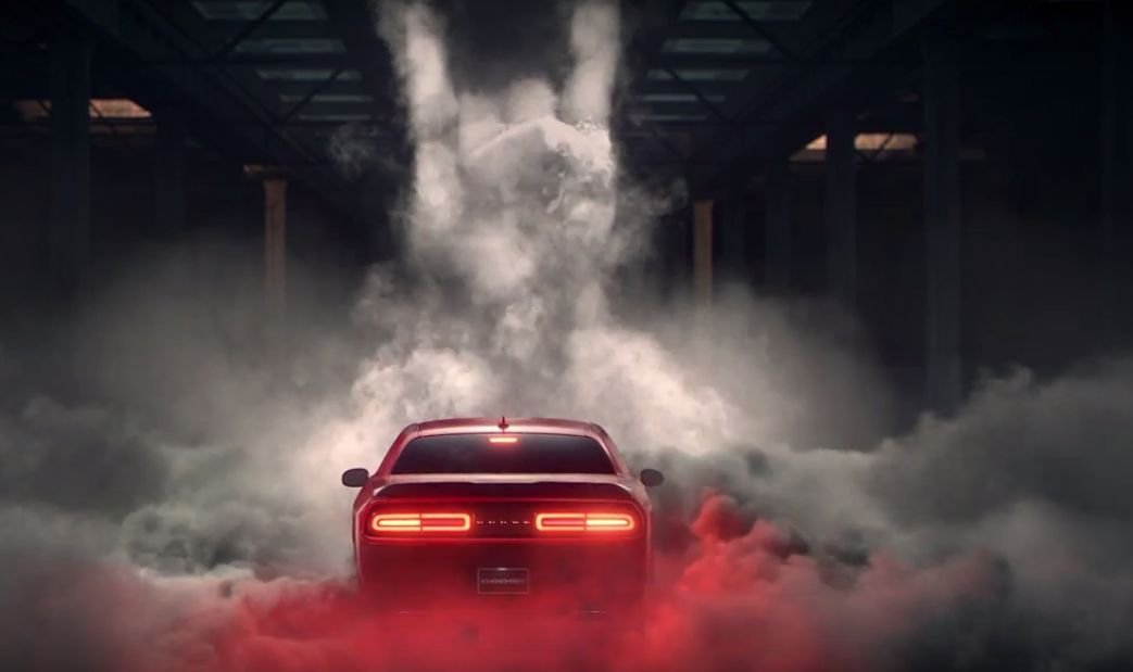 2016 Dodge Challenger Turns Burnouts Into Art In Latest Ad