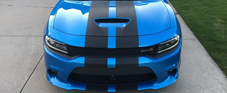 charger dodge stripes scat pack carbon fiber autoevolution gets pattern