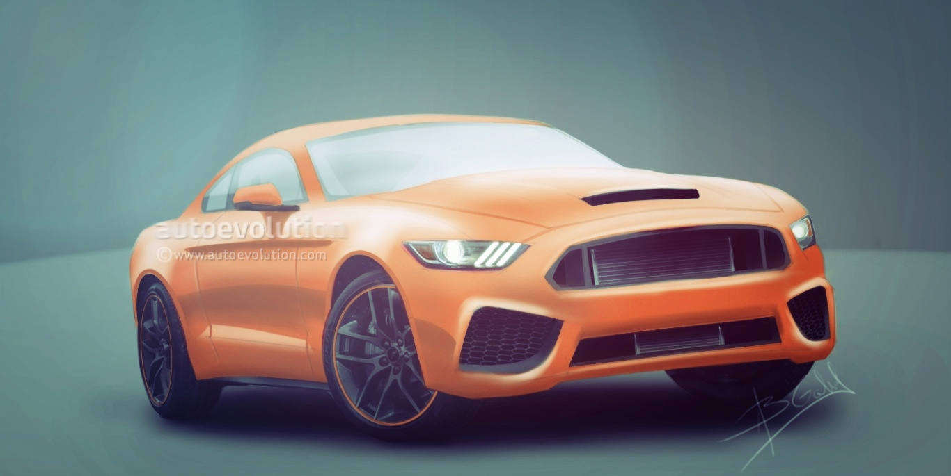 2016 ford mustang shelby gt500 rendered could pack over. Black Bedroom Furniture Sets. Home Design Ideas