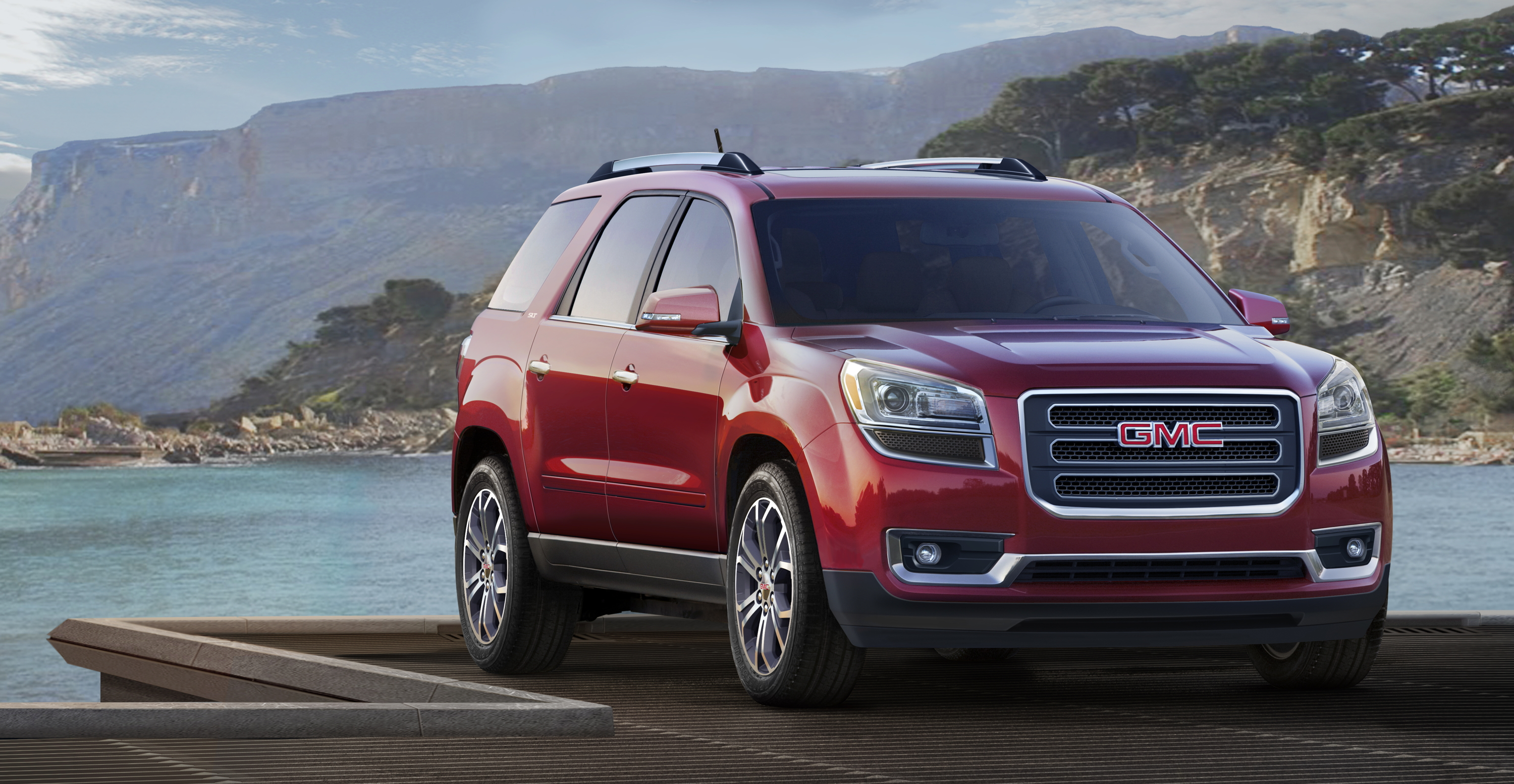 small suv make sharp slt st than acadia easier ratings before drive the to review footprint and smaller ns gmc a edmunds styling