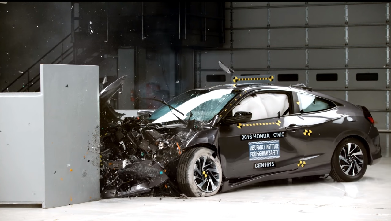 2016 honda civic coupe earns top safety pick rating for Honda civic safety