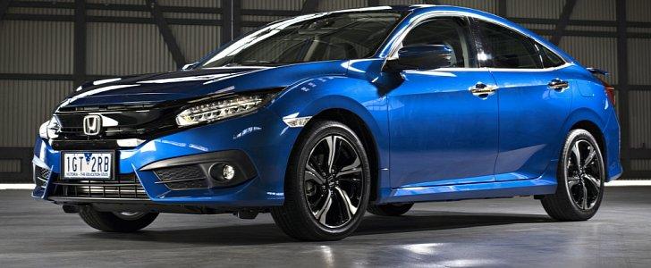 2016 honda civic sedan gets 1 8l in australia hatch and type r in