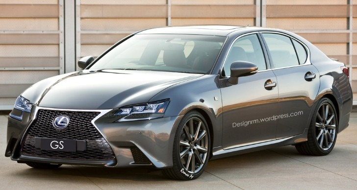 2016 lexus gs facelift rendered with new led headlights. Black Bedroom Furniture Sets. Home Design Ideas