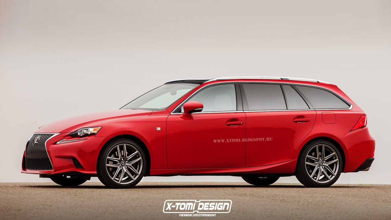 2016 Lexus IS Rendered in Sport Wagon Guise - autoevolution