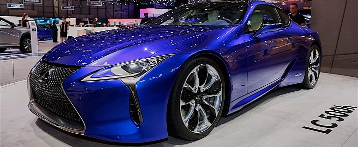 2016 lexus lc500h shows up in stunning blue exterior in