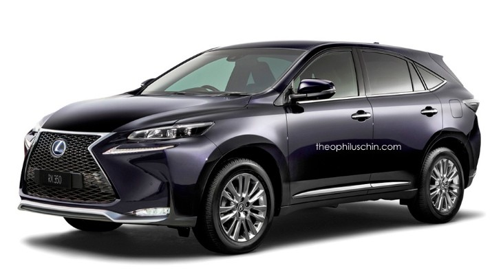 2016 lexus rx rendered bigger suv 3 row version to replace gx autoevolution. Black Bedroom Furniture Sets. Home Design Ideas