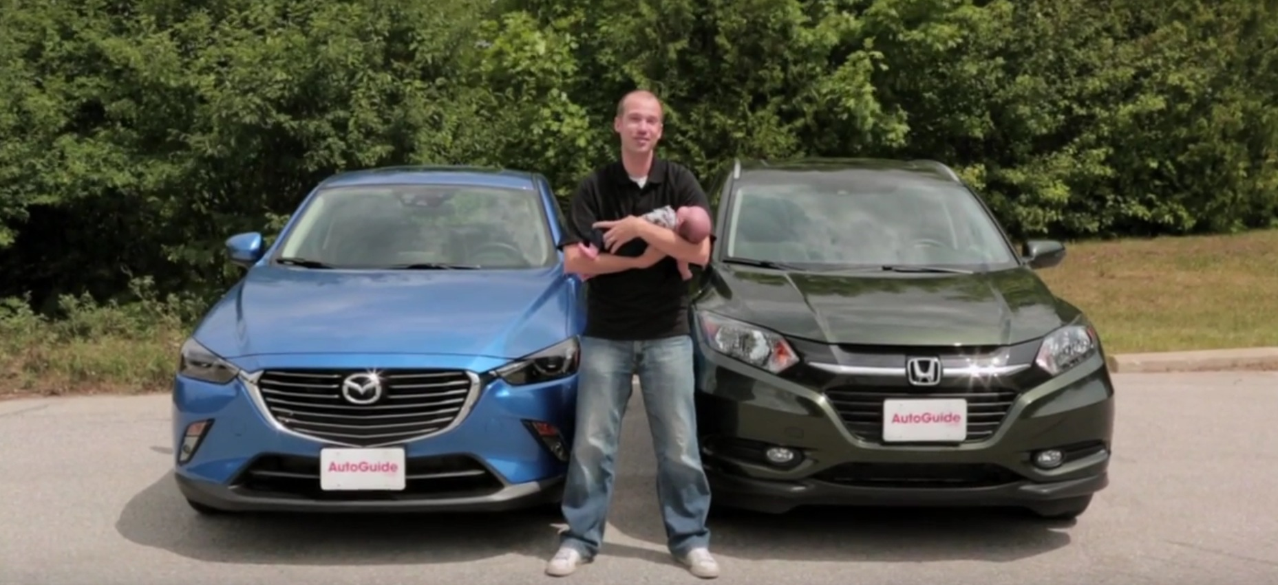 2016 Mazda CX-3 vs. Honda HR-V Review Features a Real Baby ...