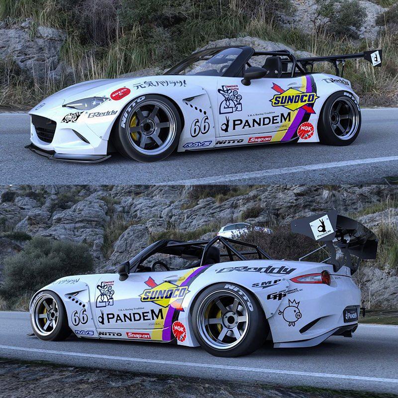2016 Mazda Mx 5 Miata With Rocket Bunny Kit In Racing Livery