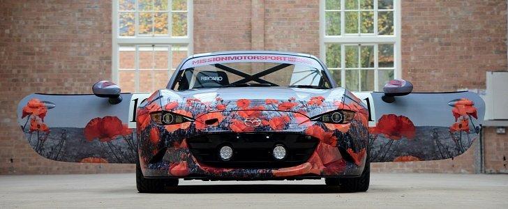 New Mazda Miata >> 2016 Mazda MX-5 Miata with Poppy Art Car Livery Isn't Just for Show - autoevolution