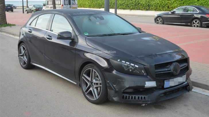2016 Mercedes-Benz A 45 AMG Facelift Spied – Photo Gallery