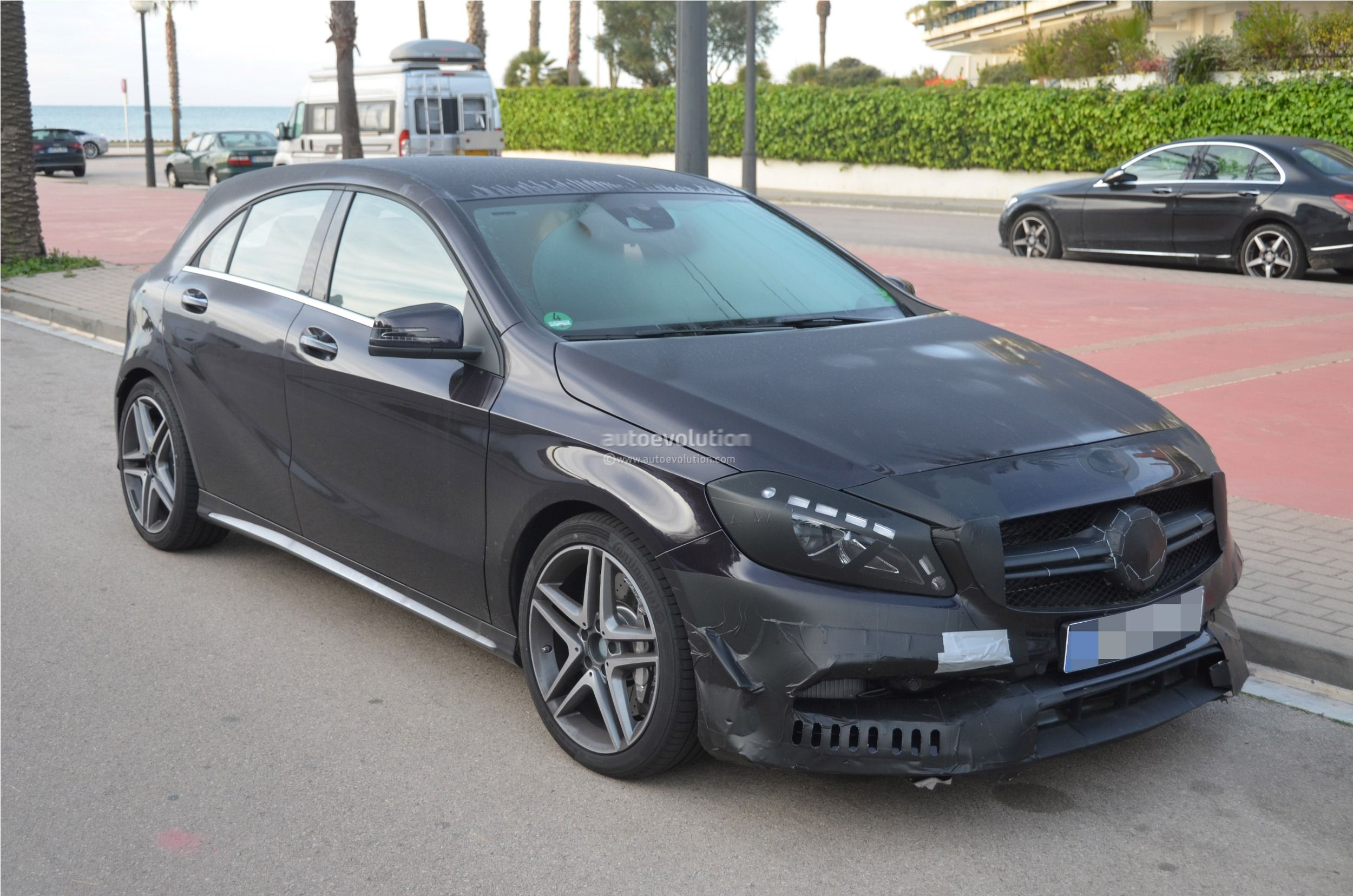 2016 mercedes benz a 45 amg facelift spied photo gallery autoevolution. Black Bedroom Furniture Sets. Home Design Ideas