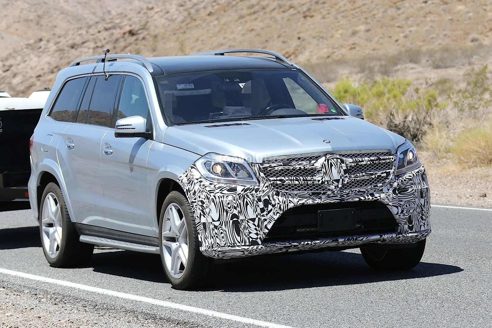 2016 MercedesBenz GL Facelift Spied Testing in the US  autoevolution