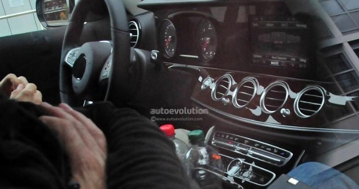 2016 mercedes e-class (w213) first interior spy photos: s-class