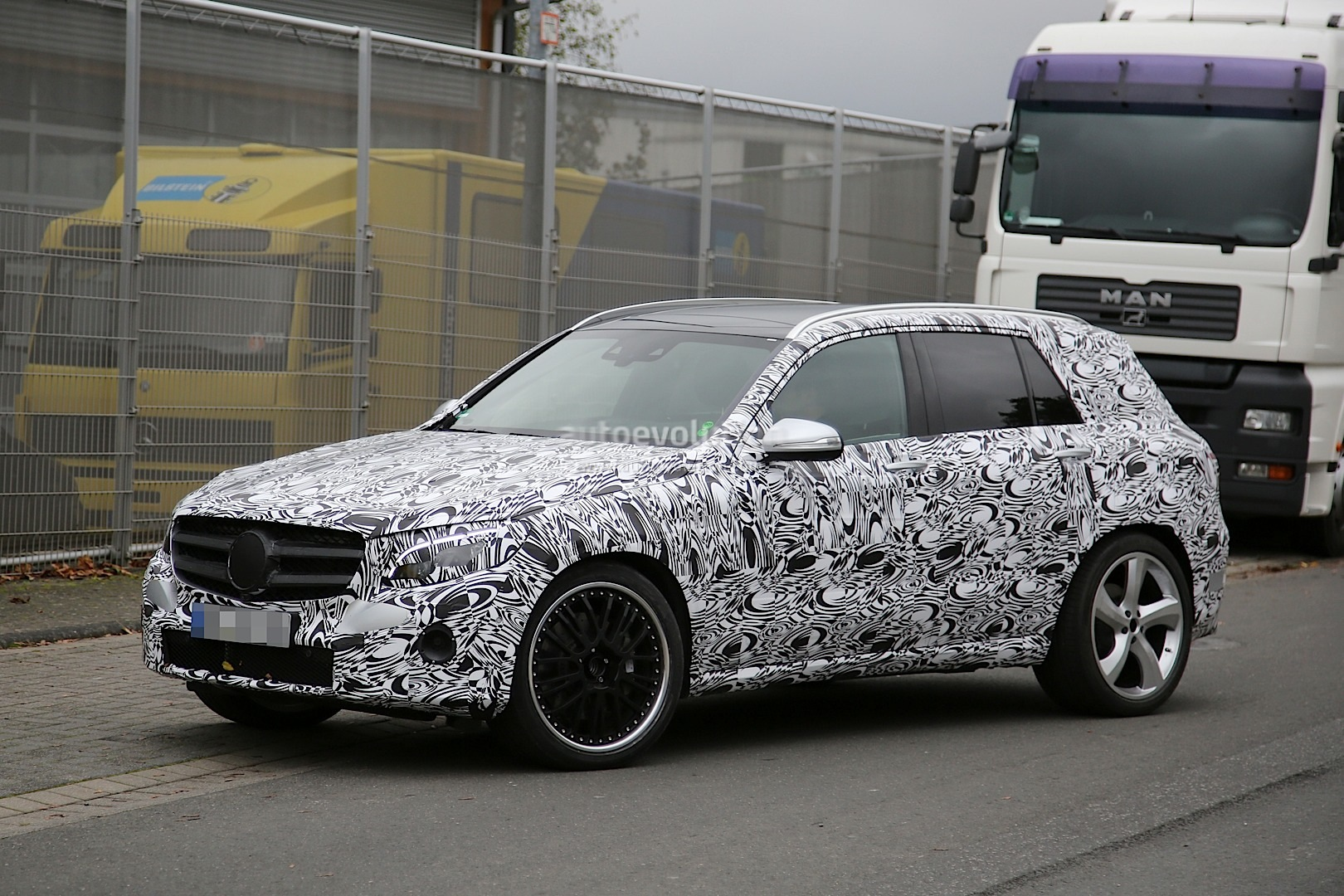 2016 mercedes glc63 amg makes spy video debut could for Mercedes benz glk350 amg