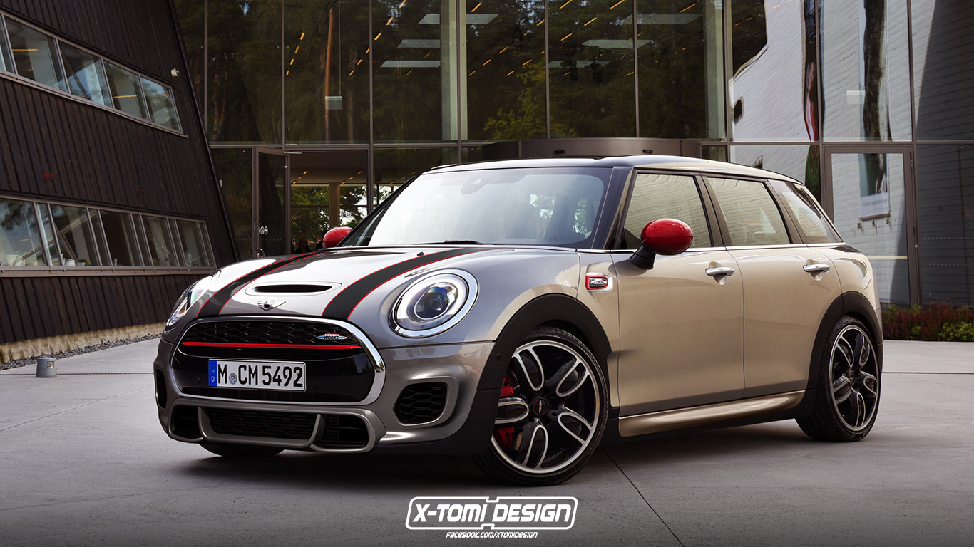 2016 mini clubman john cooper works will look as good as this rendering autoevolution. Black Bedroom Furniture Sets. Home Design Ideas