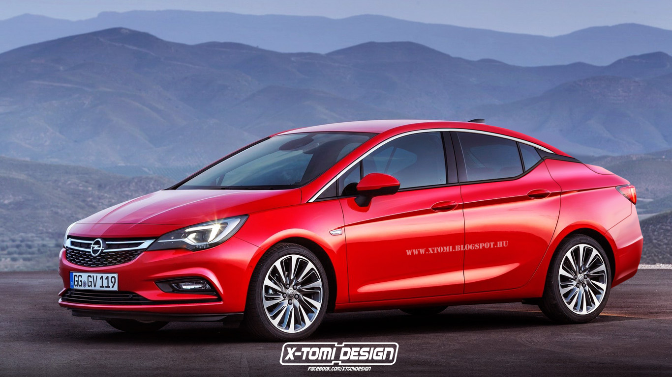 2016 opel astra k sedan rendered lighter and more stylish autoevolution. Black Bedroom Furniture Sets. Home Design Ideas