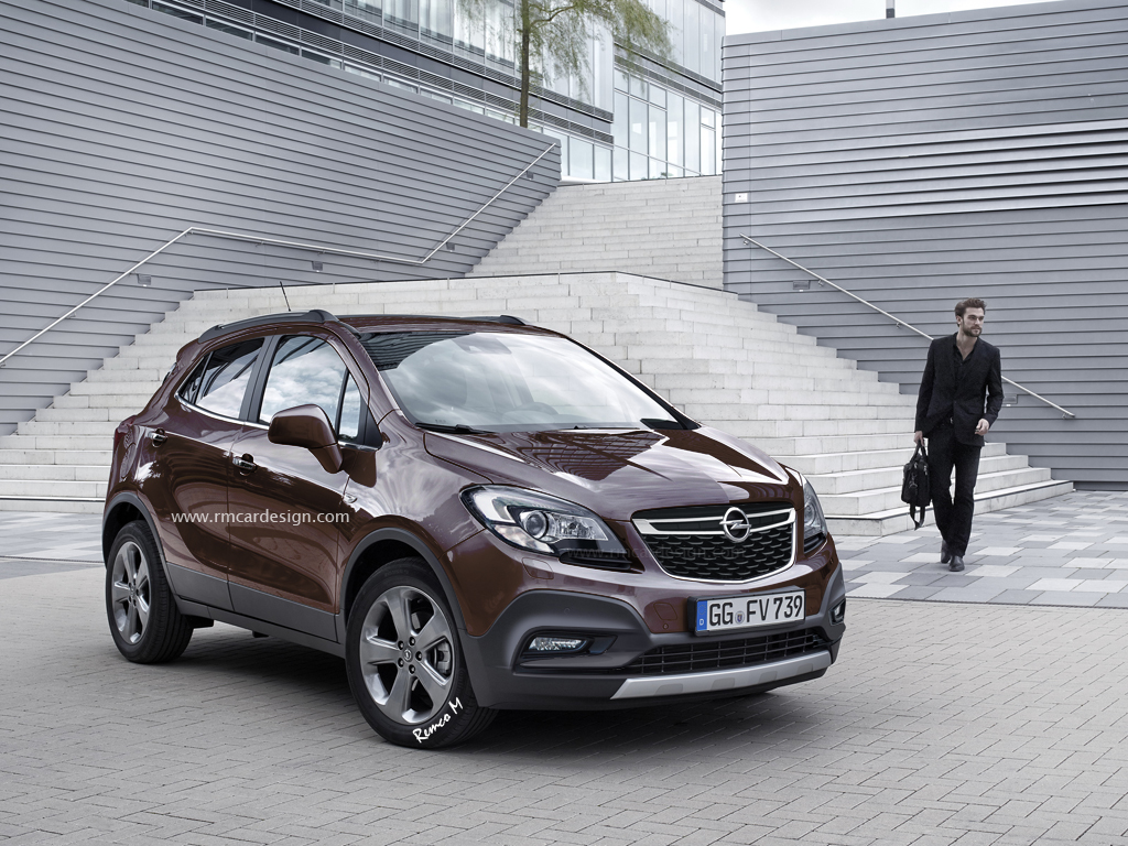 2016 opel vauxhall mokka facelift rendered might look a. Black Bedroom Furniture Sets. Home Design Ideas