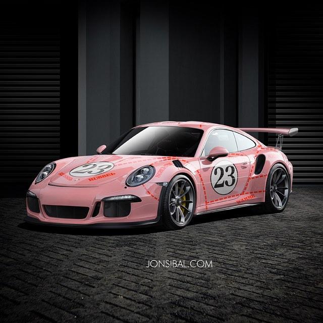 Porsche 911 Gt3: 2016 Porsche 911 GT3 RS Gets 917/20 Pink Pig Livery In