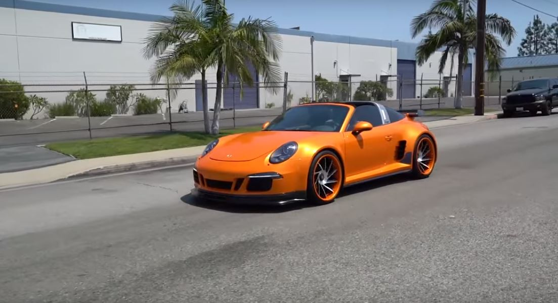 2016 Porsche 911 Targa 4 Gts Gets Ruined With Bro Style Bodykit