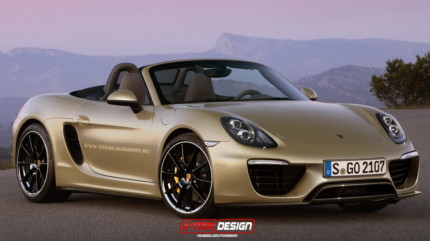 2016 porsche boxster facelift rendered the 918 spyder 39 s. Black Bedroom Furniture Sets. Home Design Ideas