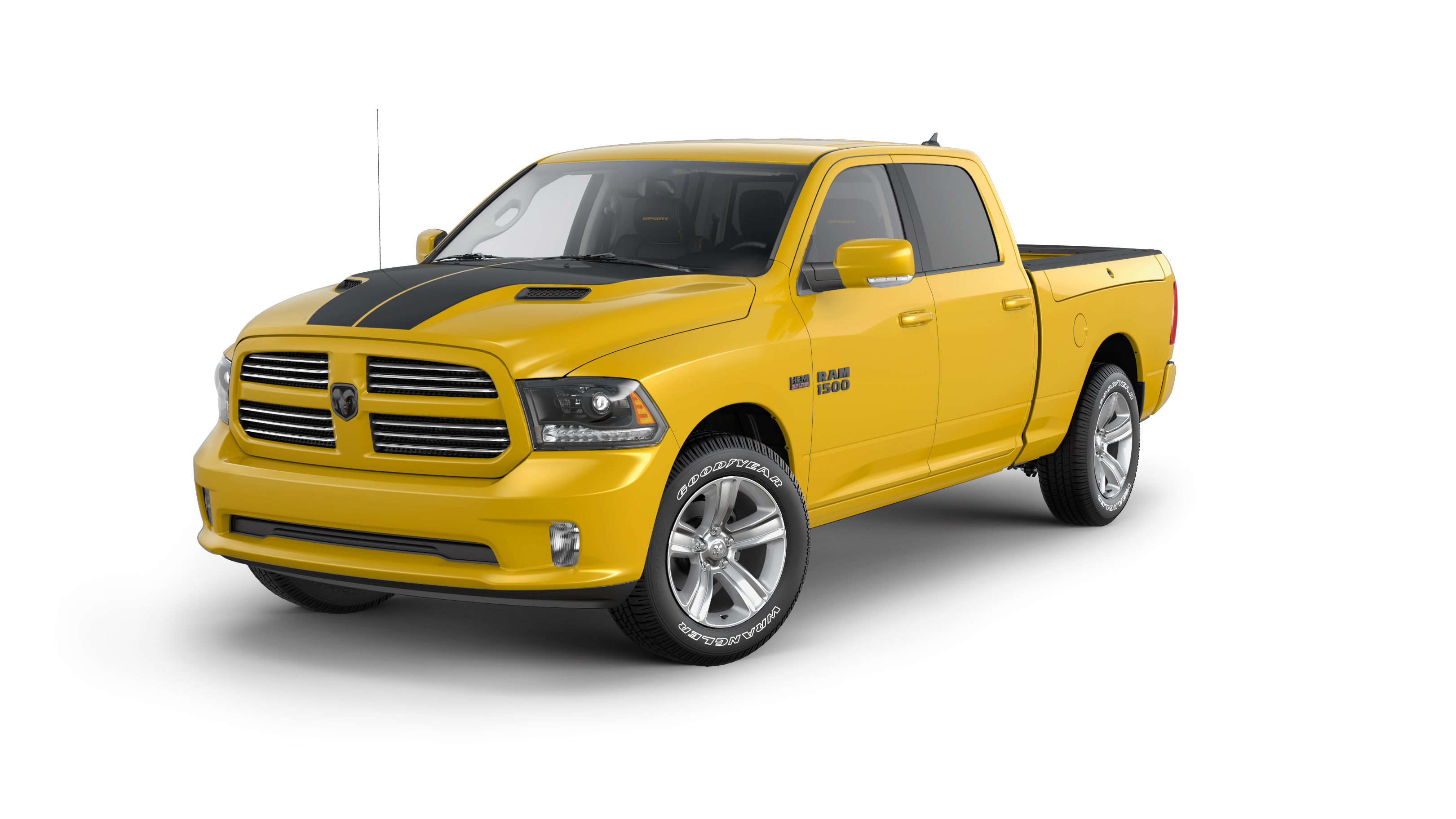 2016 ram 1500 stinger yellow sport is the pickup truck version of bumblebee autoevolution. Black Bedroom Furniture Sets. Home Design Ideas