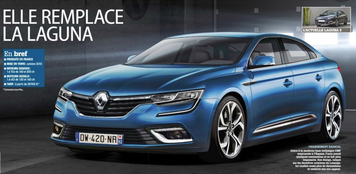 2016 renault laguna rendered as close to production. Black Bedroom Furniture Sets. Home Design Ideas