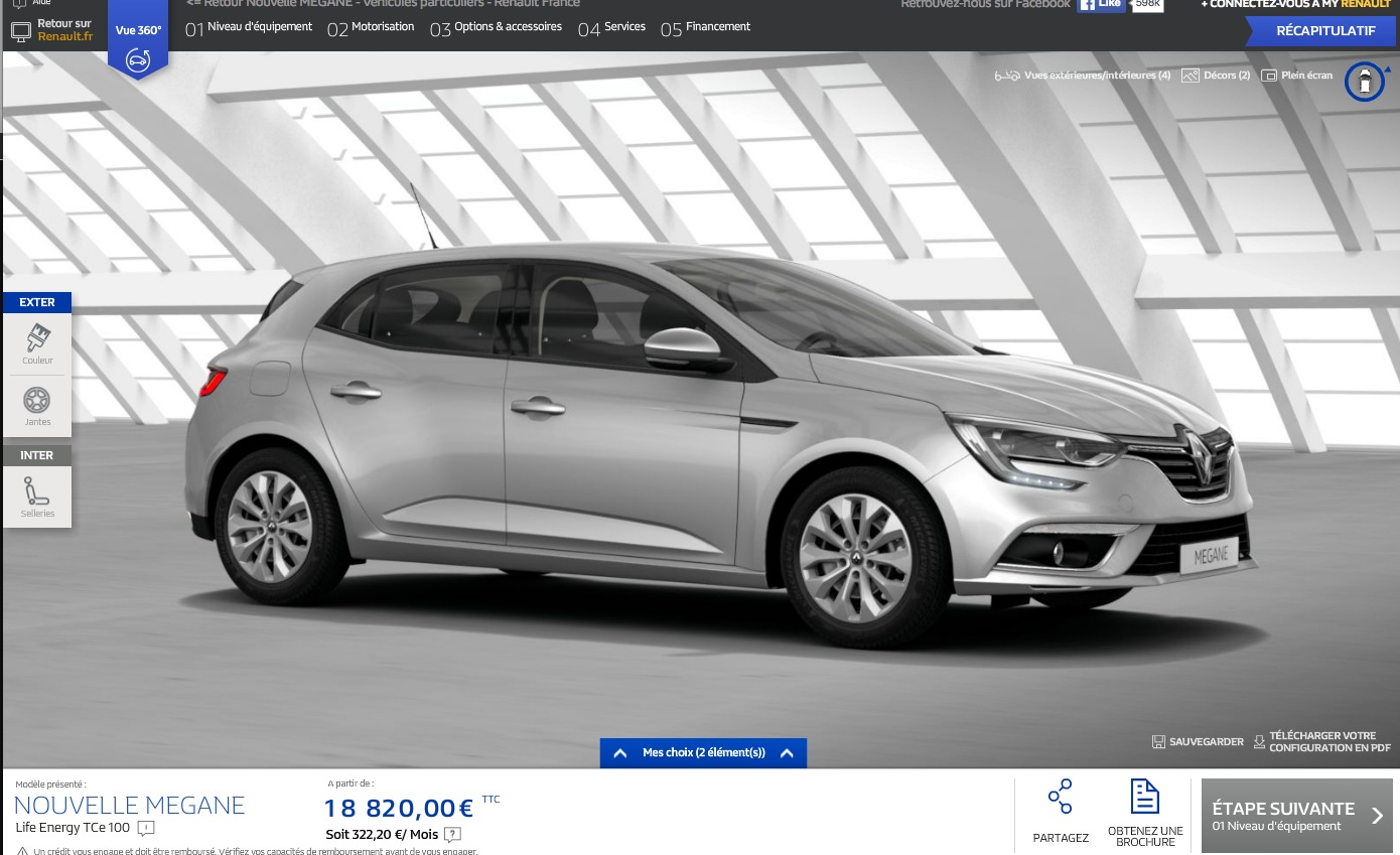 2016 renault megane configurator launched in france. Black Bedroom Furniture Sets. Home Design Ideas