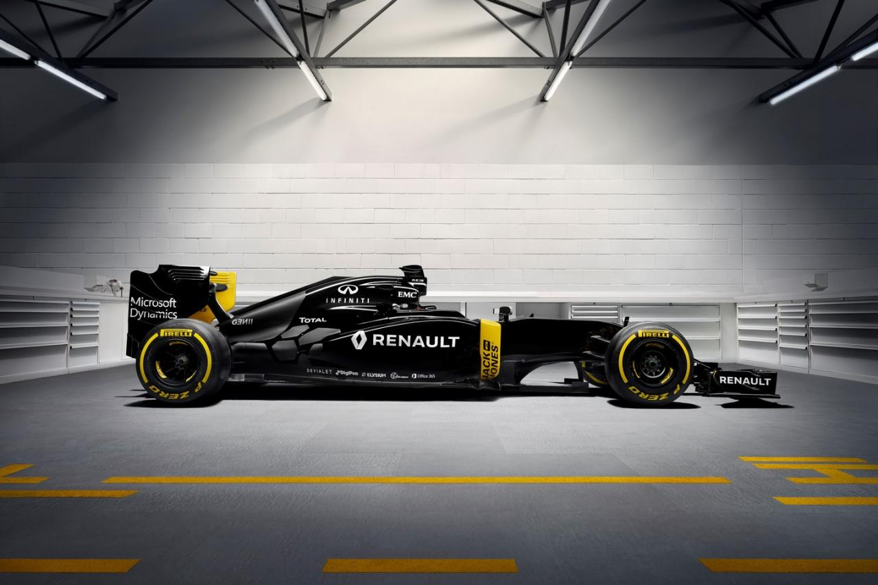 2016 renault rs16 formula 1 car wears black yellow livery autoevolution. Black Bedroom Furniture Sets. Home Design Ideas