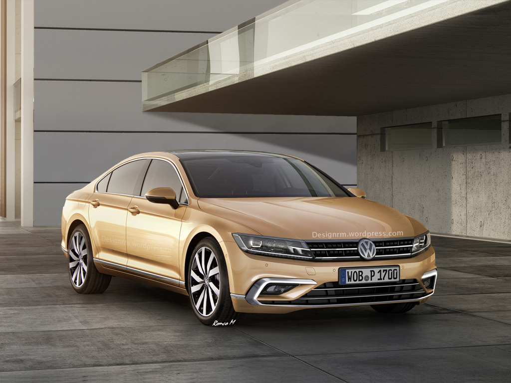 2016 Volkswagen Cc Rendered To Four Door Coupe Perfection