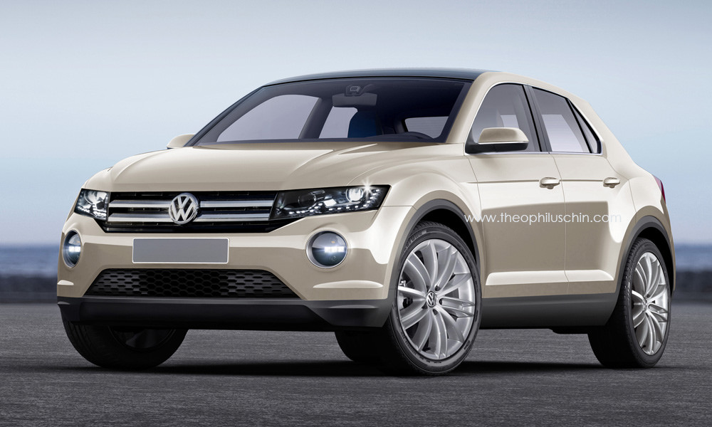 2016 volkswagen tiguan ii rendered based on t roc concept. Black Bedroom Furniture Sets. Home Design Ideas