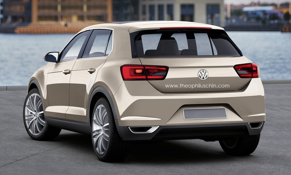 2016 volkswagen tiguan ii rendered based on t roc concept autoevolution. Black Bedroom Furniture Sets. Home Design Ideas