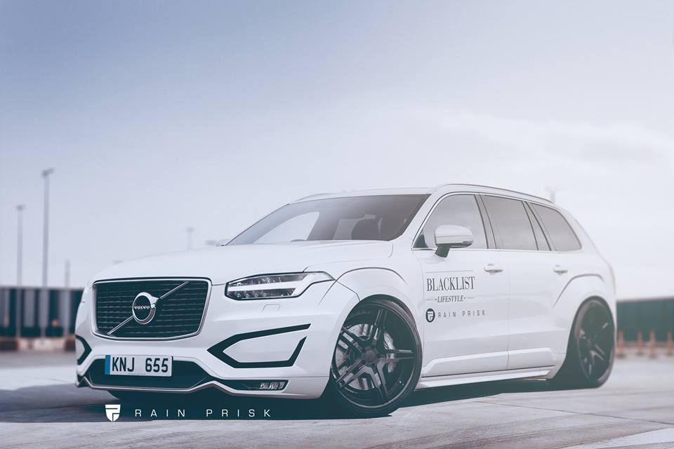 2016 Volvo Xc90 Gets Widebody Kit Drops To The Ground In