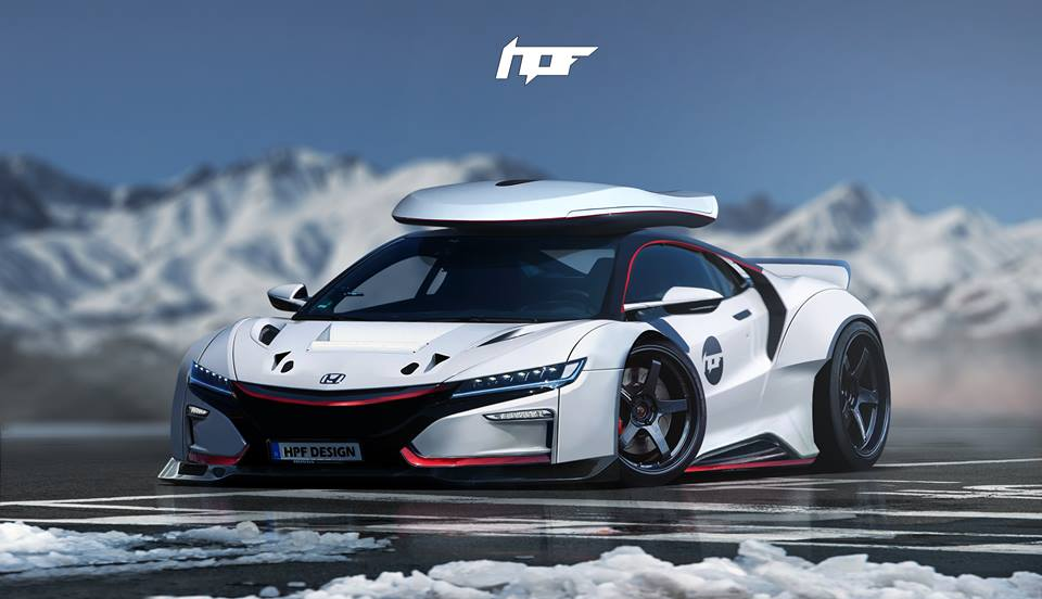 2017 Acura Nsx Gets Widebody Kit And Roof Box In Brutal