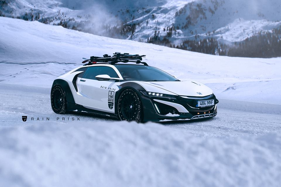 2017 Acura Nsx Shooting Brake Rendered As Beastly Winter