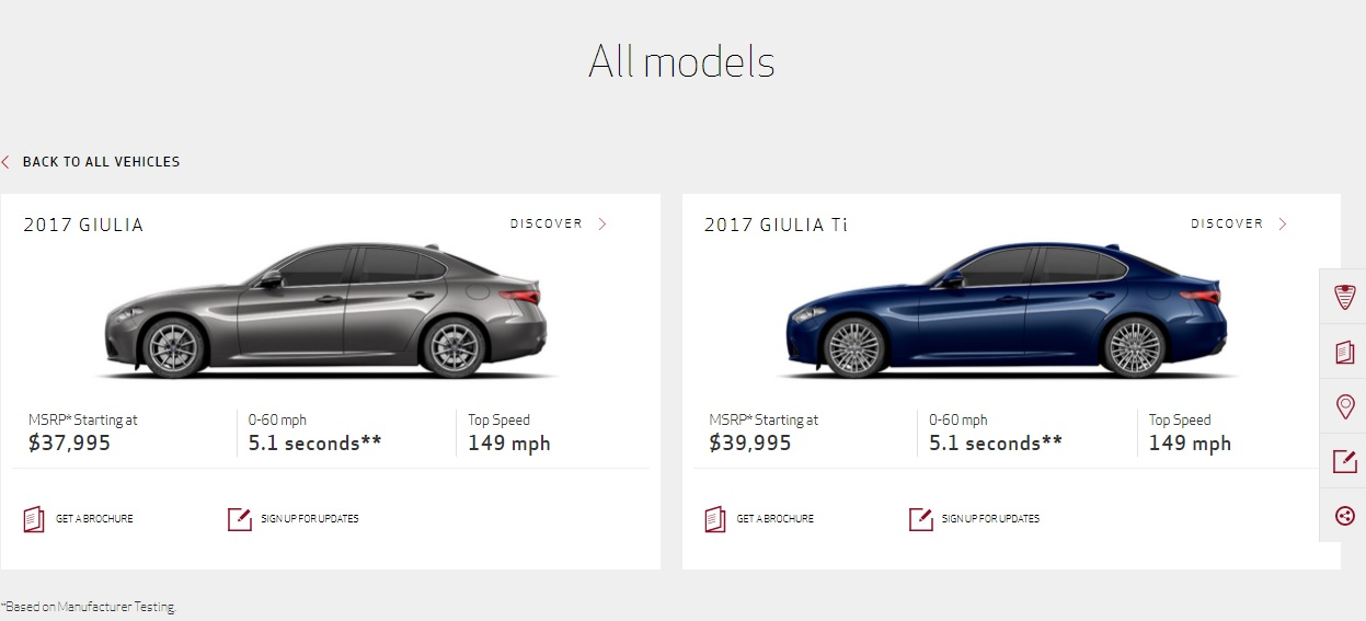 Alfa Romeo Giulia 0 60 >> 2017 Alfa Romeo Giulia Goes On Sale In The U S Priced From