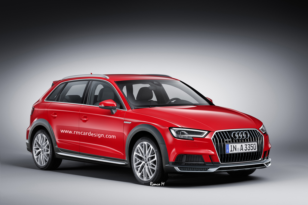 2017 audi a3 allroad quattro rendering looks cool might eventually happen autoevolution. Black Bedroom Furniture Sets. Home Design Ideas