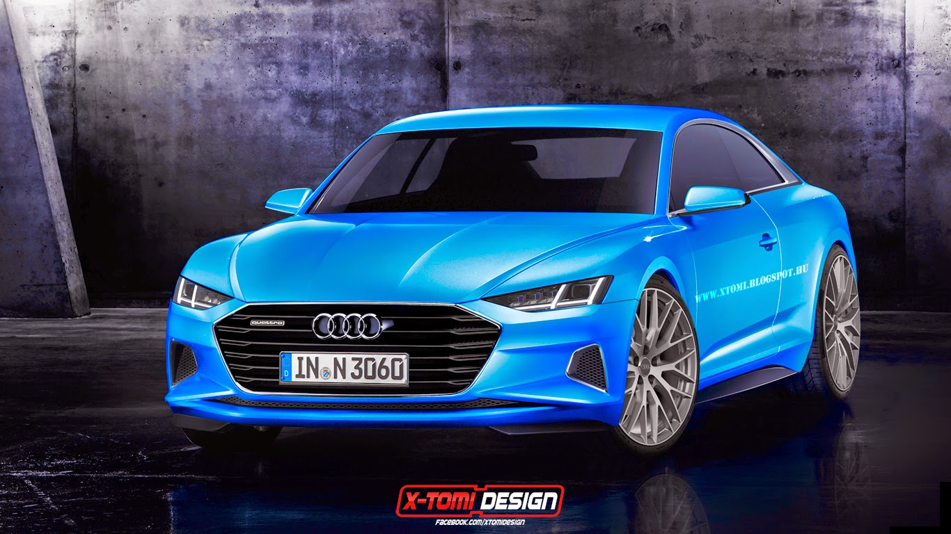 2017 audi a9 rendered as production coupe based on prologue concept autoevolution. Black Bedroom Furniture Sets. Home Design Ideas
