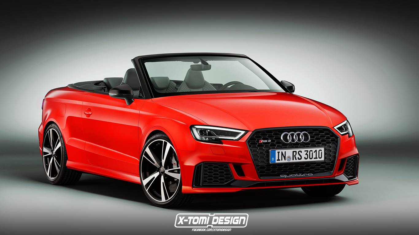 2017 audi rs3 cabriolet would be really heavy and expensive autoevolution. Black Bedroom Furniture Sets. Home Design Ideas