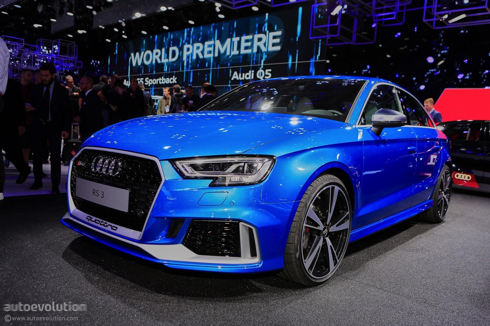 2017 Audi RS3 Sedan (MY 2018 for U.S. market) live at 2016 Paris Motor ...